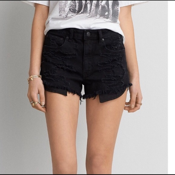 American Eagle Outfitters Pants - AEO High Rise Festival Destroyed Shorts Denim 2
